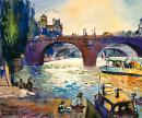 Evening by the Seine - LEU MICHAEL (60cm x 50cm)