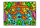 Untitled (1985) , Sonderfarben - Haring, Keith (119cm x 84cm)
